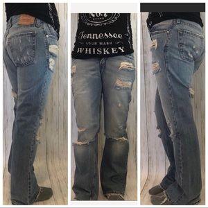 1990s Vintage Destructed Levi's Jeans
